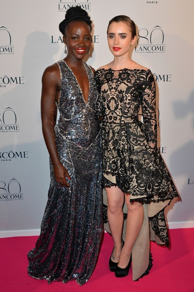 Lupita Nyong'o et Lily Collins