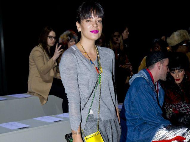 Lily Allen, Kate Moss et sa sœur Lottie, stars de la Fashion Week de Londres