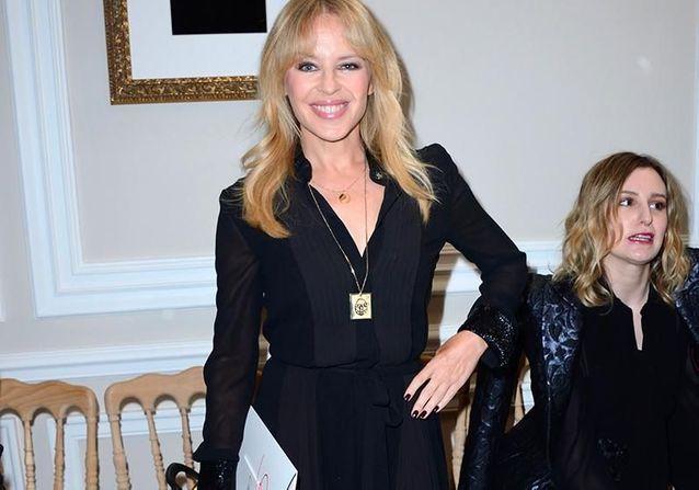 Kylie Minogue et Inès de la Fressange, deux stars au défilé Schiaparelli