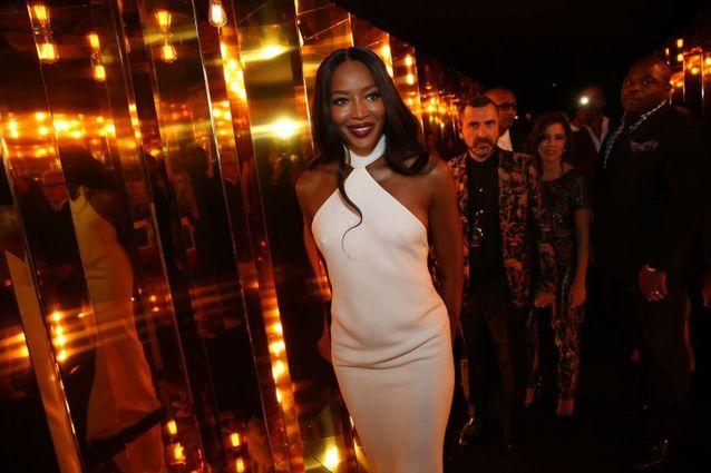 Naomi Campbell à la soirée L'Oréal Gold Obsession