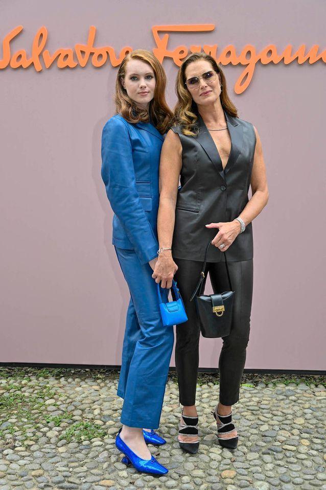 Brooke Shields et sa fille Grier Hammond Henchy au défilé Salvatore Ferragamo