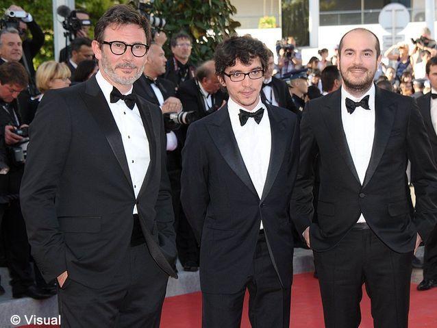 """Michel Hazanavicius et les auteurs de """"Bref"""", Bruno Muschio et Kyan Khojandi."""