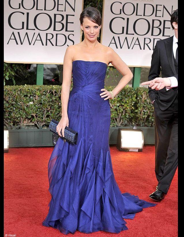 En robe Gucci et bijoux Chopard, l'actrice n'a rien à envier aux grandes stars hollywoodiennes lors de la cérémonie des Golden Globes 2012.