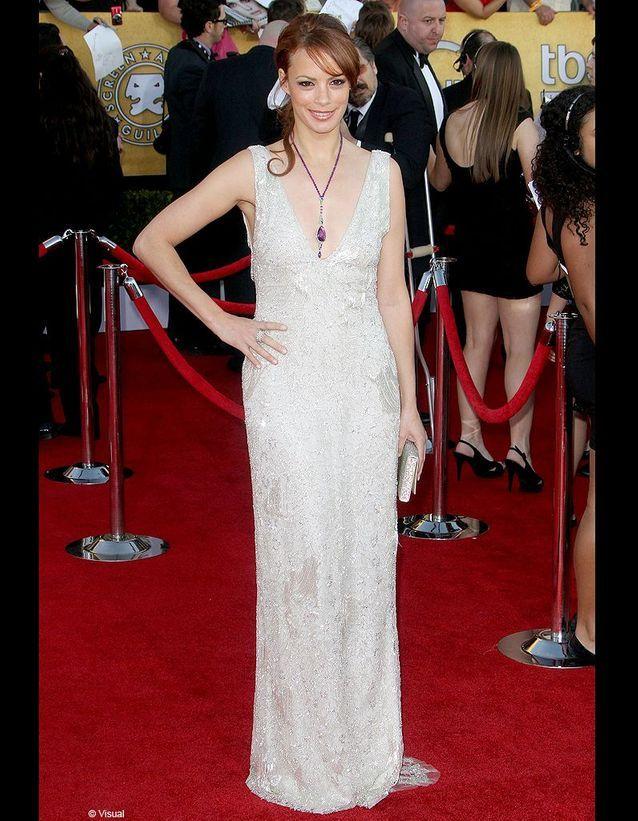 Sur le red carpet des SAG Awards, elle tente pour la première fois une griffe américaine, Ralph Lauren.