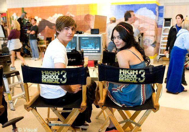 Son histoire d'amour continue sur le plateau de tournage de « High School Musical 3 »
