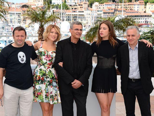 Vincent Maraval, Brahim Chioua, Léa Seydoux, Abdellatif Kechiche et Adèle Exarchopoulos