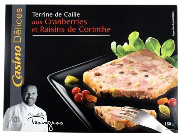 Terrine Caille Raisins