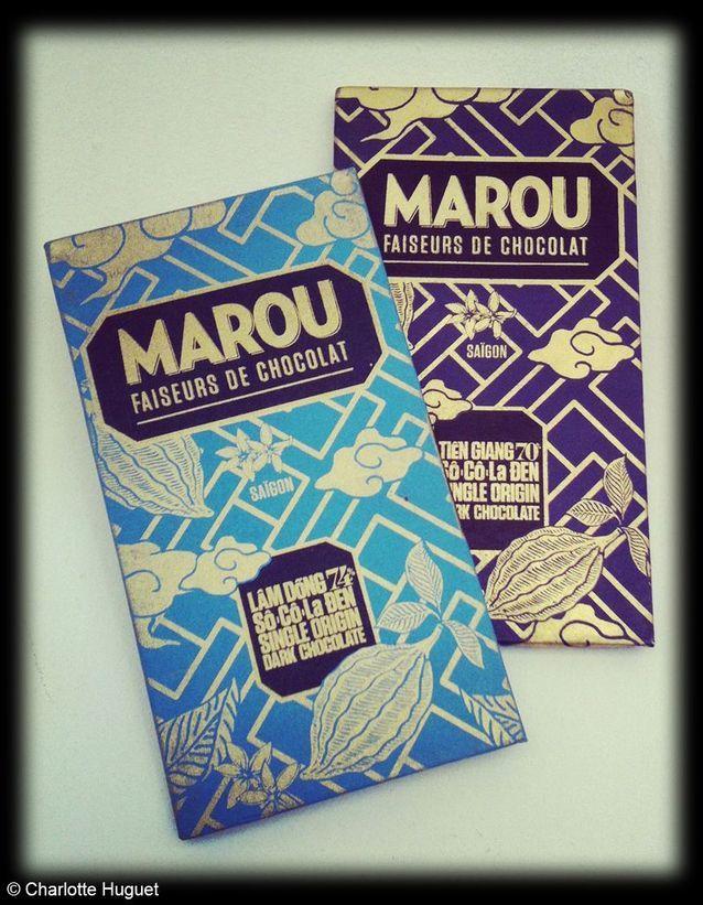 Tablettes de chocolat noir, Marou