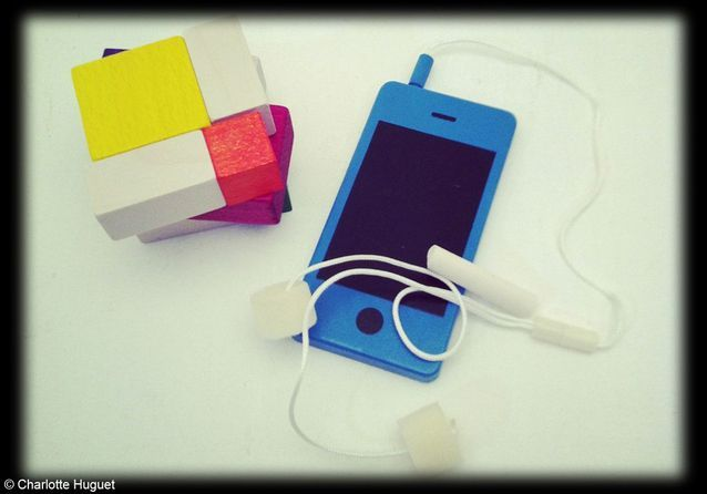 Téléphone portable tableau « I-Wood, Donkey Product
