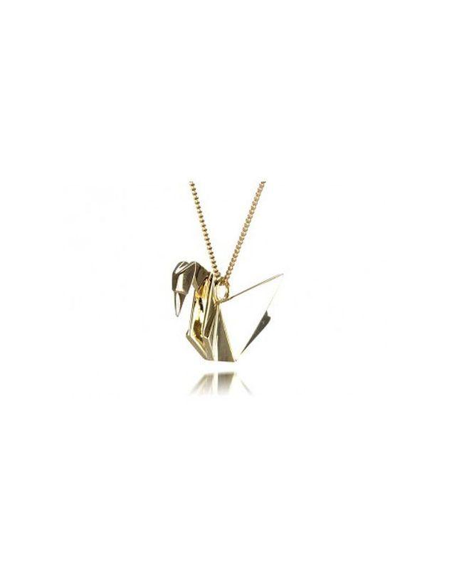 Arteum florence sautoir origami cygne vermeil