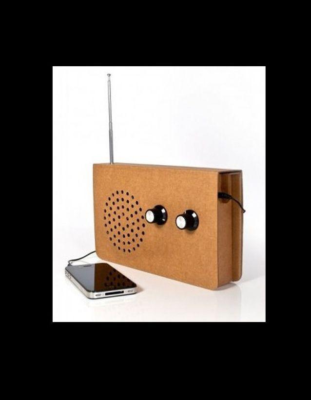 Arteum radio en carton haut parleur MP3
