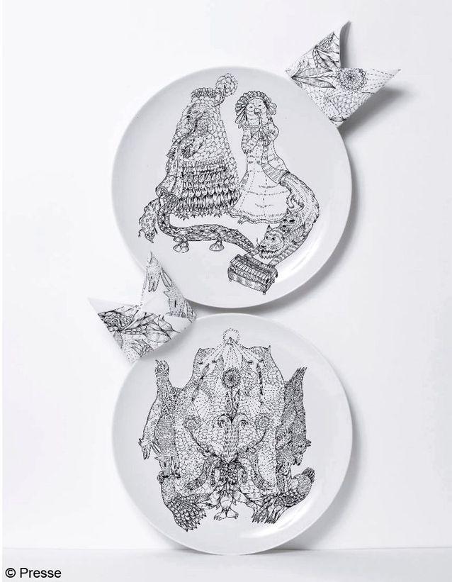 "Assiettes ""Rarara"" en porcelaine, design Dylan Martorell, Domestic"