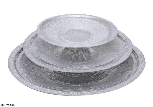 """Plats """"Jadel"""" en aluminium martelé, L'Artisan du Liban"""