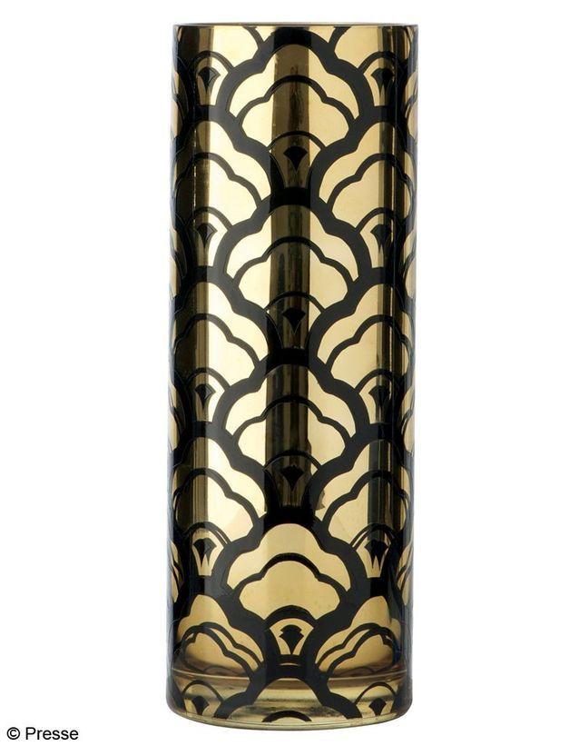 Vase en verre dépoli or et noir Marks and Spencer