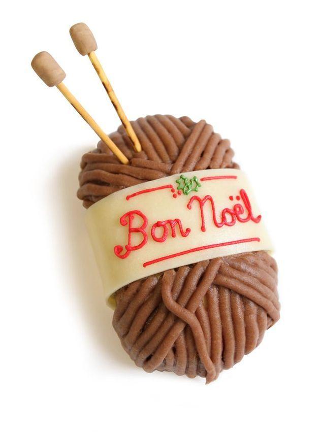 Chez Bogato Noël Mont tricot Bûche