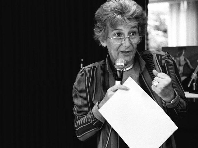 Yvette Roudy, première ministre des Droits de la femme