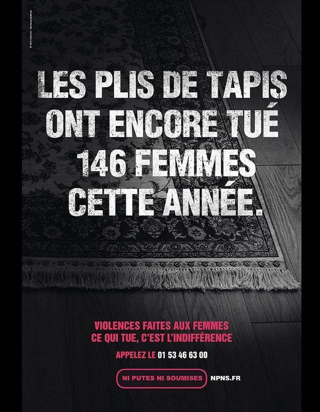 « Les plis de tapis ont encore tué 146 femmes cette année. »