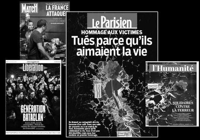 Attaques à Paris : les unes de la presse française et internationale