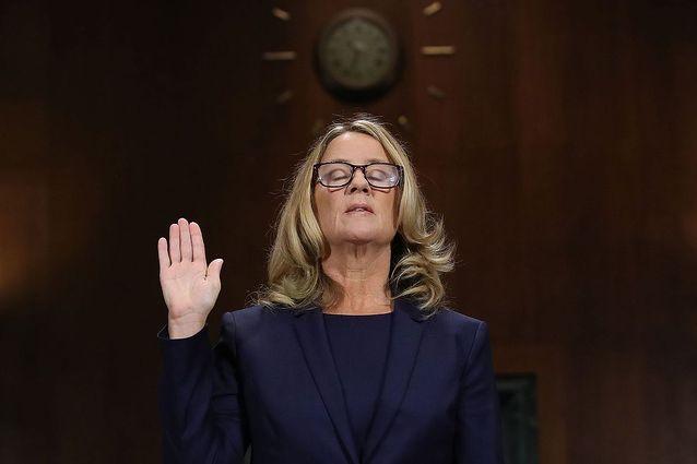 Christine Blasey Ford devant les sénateurs