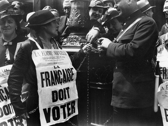 Arrestation d'une suffragette