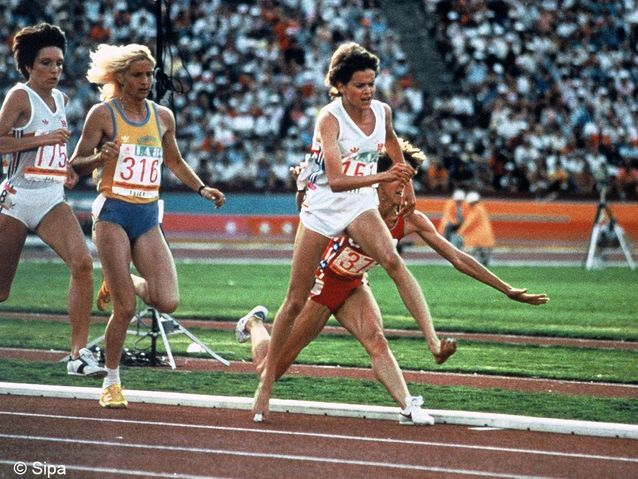 Zola Budd et Mary Decker