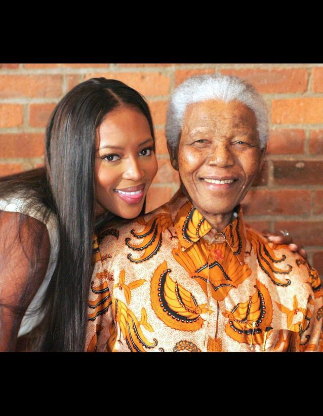 Naomi Campbell et Madiba le 12 mai 2005