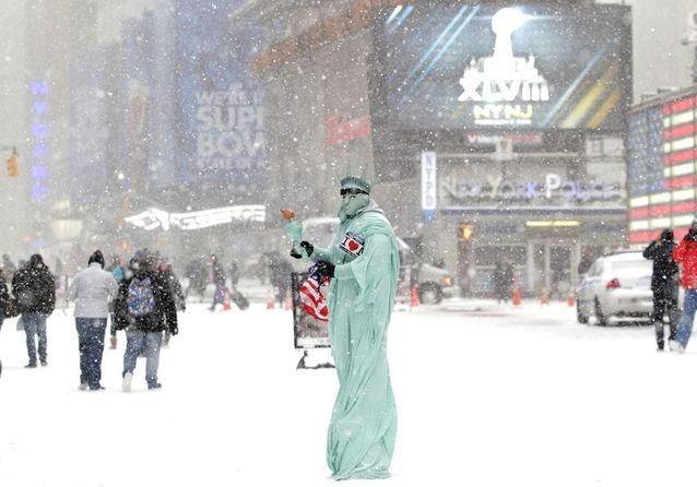 New York sous la neige : 10 photos incroyables