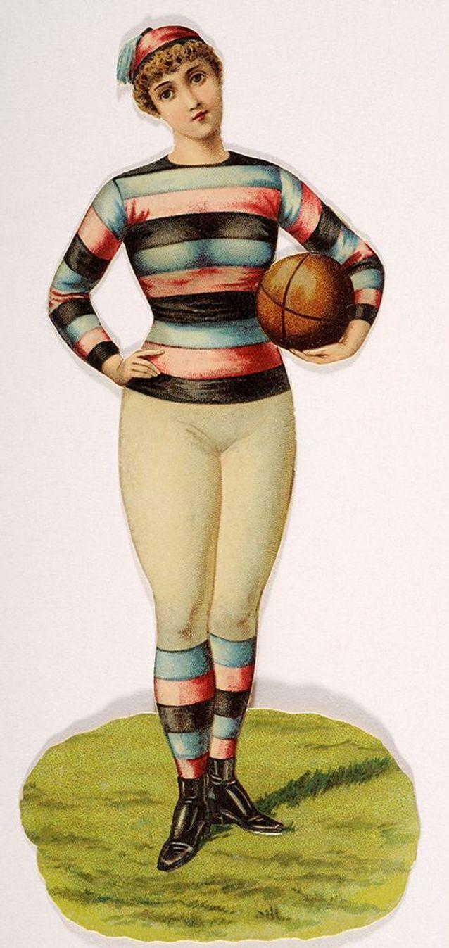 Jeune femme avec un ballon