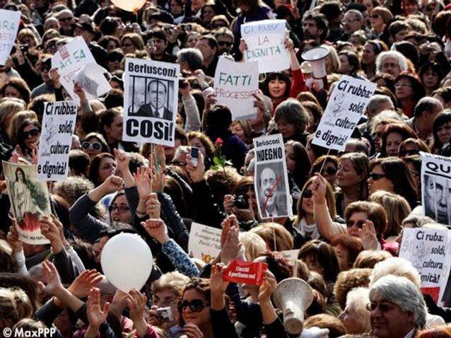 13 février 2011 : les Italiennes descendent dans la rue