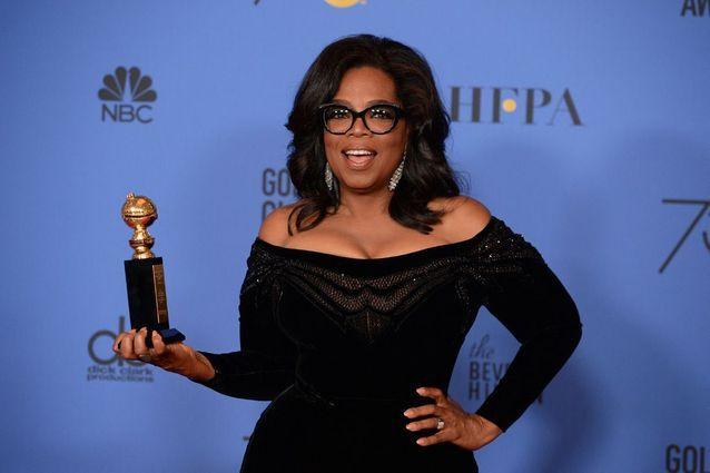 Oprah Winfrey lors des Golden Globes en 2018