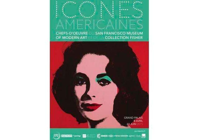 """Exposition """"Icônes américaines"""" aux Galeries Nationales du Grand-Palais"""