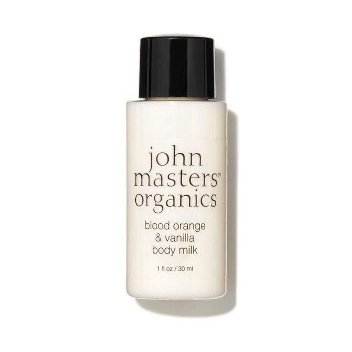 Lait corps orange sanguine & vanille, John Masters Organics, 4€