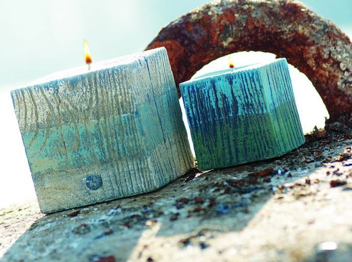 Bleu, blanc, bois, une déco bord de mer