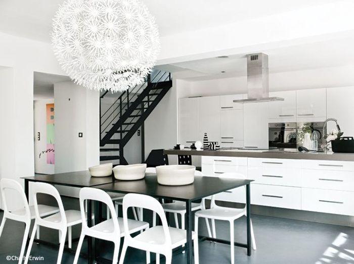 decoration maison en noir et blanc
