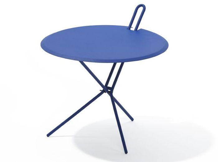 Petite table bleue pliante