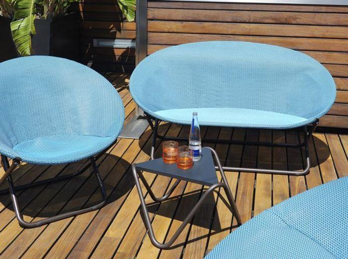 Salon de jardin bleu ciel