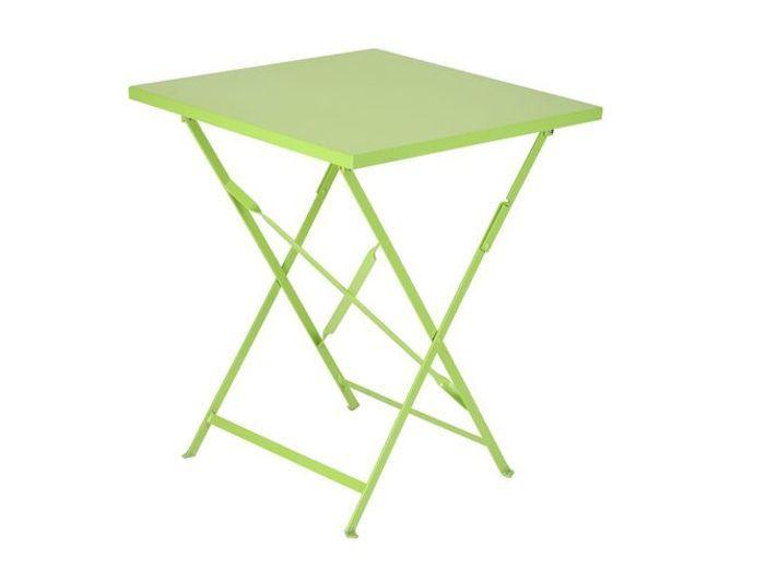 Table de jardin verte pliante