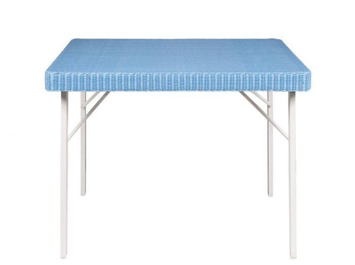 Table jardin bleue tectona