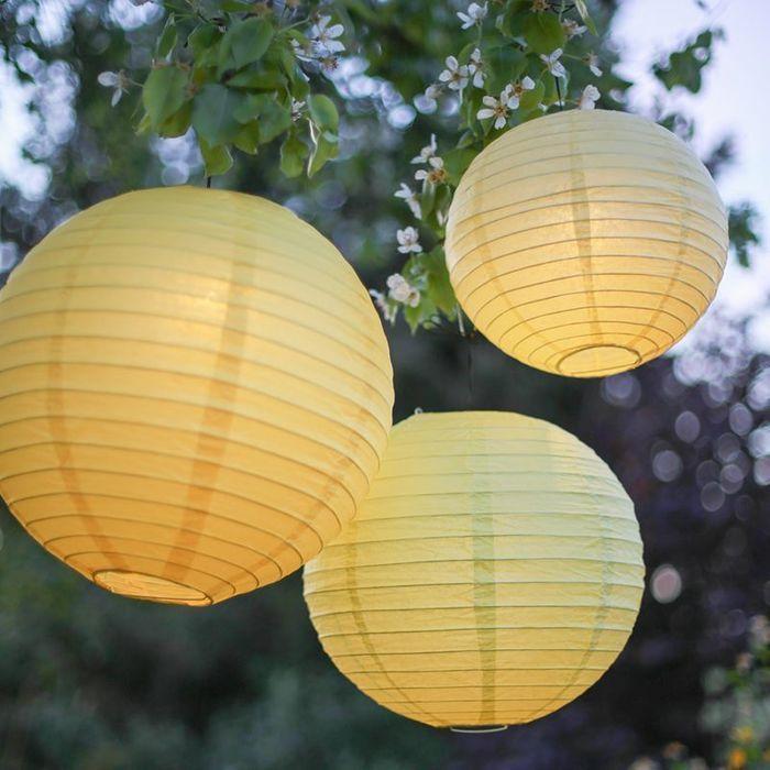 Lampions jaunes