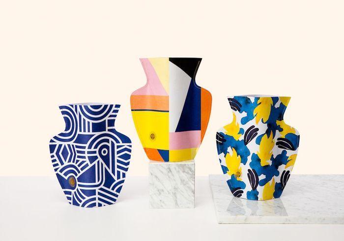 Un vase en papier