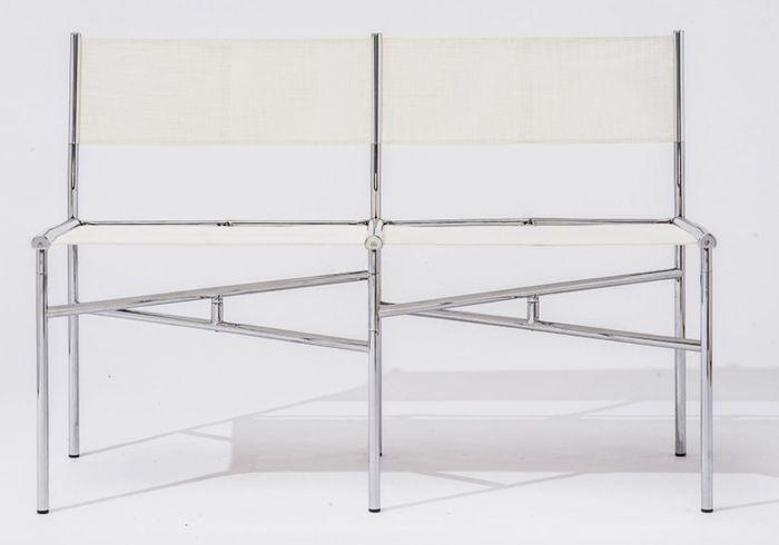 Meeting Chairs Contemporaines en Batyline par Laurence Humier, Set de 2