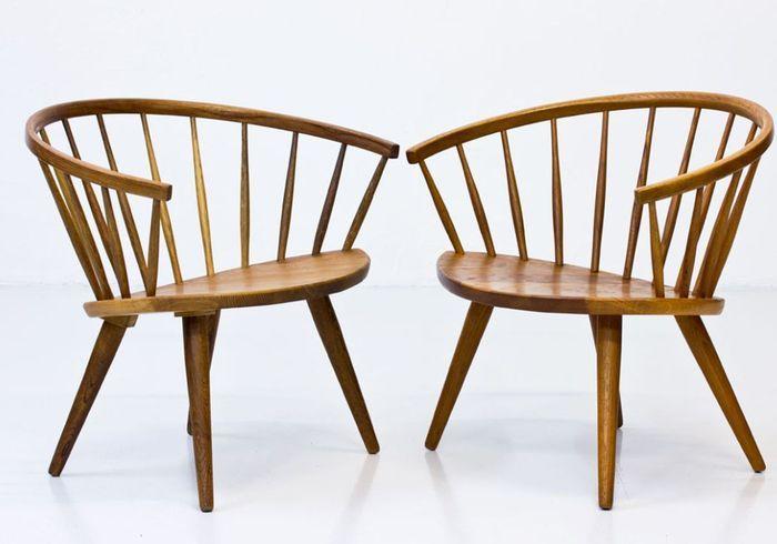 Chaises Arka Mid-Century par Yngve Ekström pour Stolfabriks AB, 1960s, Set de 2
