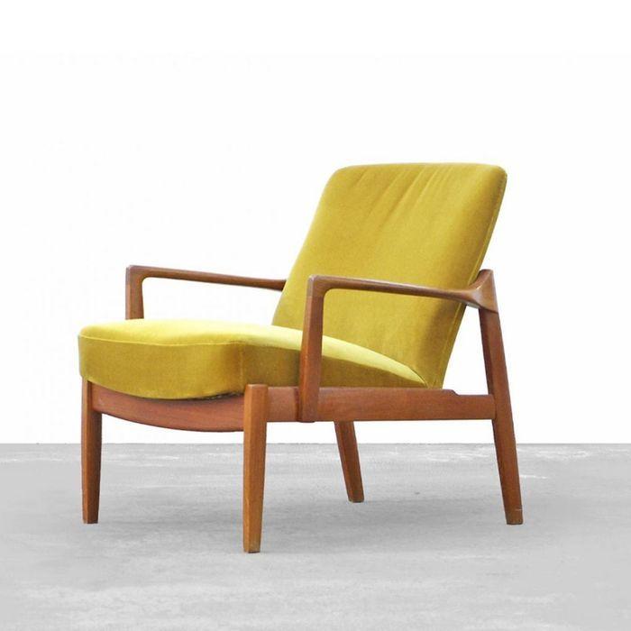 FD125 Teak Easy Chair by Tove & Edvard Kindt Larsen for France & Daverkosen