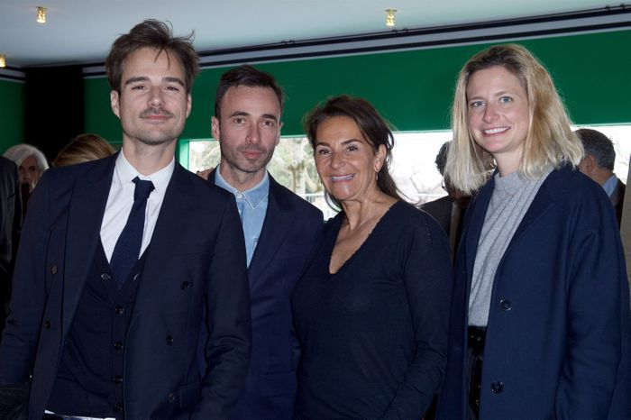 Julien Charles (Louis Vuitton), Edouard Schneider (Louis Vuitton), Constance Benqué (ELLE Décoration) et Caroline Bellemare (Louis Vuitton)