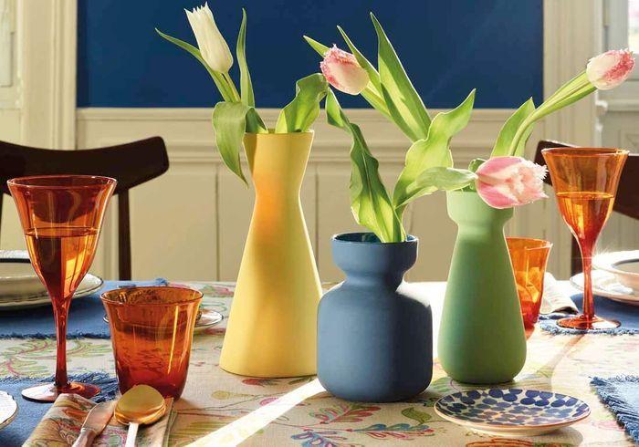 Vases colorés en céramique Zara Home