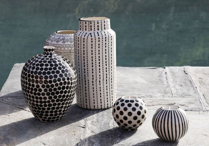 Vases et photophores graphiques Zara Home