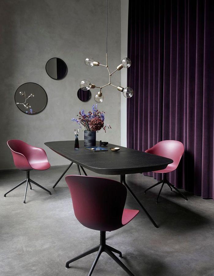 Des rideaux violets