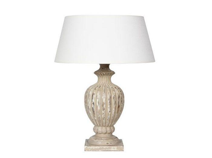 Deco campagne lampe cote table