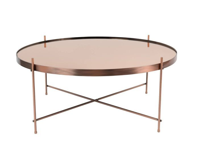 Table basse métallique rose gold