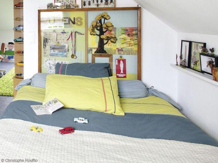 Chambre garcon tete de lit cadre